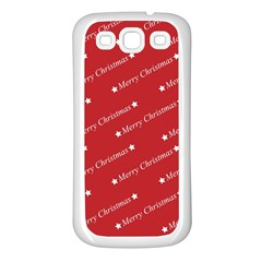 Christmas Paper Background Greeting Samsung Galaxy S3 Back Case (white)