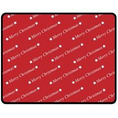 Christmas Paper Background Greeting Double Sided Fleece Blanket (medium)
