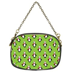 Christmas Penguin Penguins Cute Chain Purses (two Sides)  by Nexatart