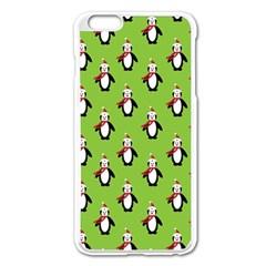 Christmas Penguin Penguins Cute Apple Iphone 6 Plus/6s Plus Enamel White Case