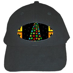Christmas Time Black Cap by Nexatart