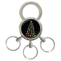 Christmas Time 3 Ring Key Chains