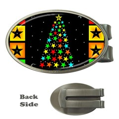 Christmas Time Money Clips (oval)  by Nexatart