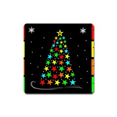 Christmas Time Square Magnet