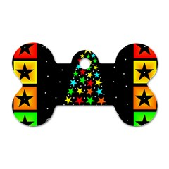 Christmas Time Dog Tag Bone (two Sides) by Nexatart