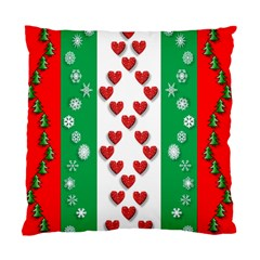 Christmas Snowflakes Christmas Trees Standard Cushion Case (one Side) by Nexatart