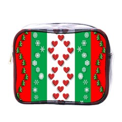 Christmas Snowflakes Christmas Trees Mini Toiletries Bags by Nexatart