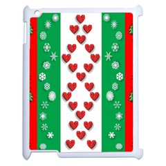Christmas Snowflakes Christmas Trees Apple Ipad 2 Case (white)