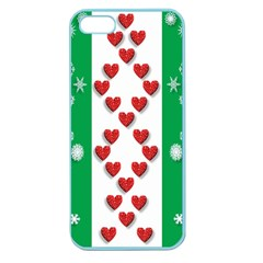 Christmas Snowflakes Christmas Trees Apple Seamless Iphone 5 Case (color)