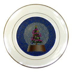 Christmas Snow Porcelain Plates