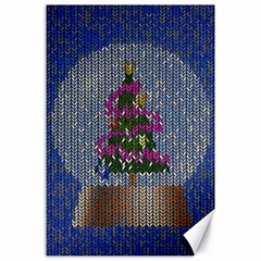Christmas Snow Canvas 24  X 36  by Nexatart