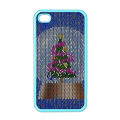 Christmas Snow Apple Iphone 4 Case (color)