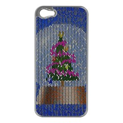 Christmas Snow Apple Iphone 5 Case (silver)