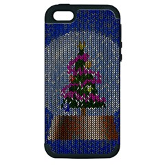 Christmas Snow Apple Iphone 5 Hardshell Case (pc+silicone)