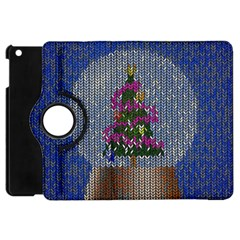 Christmas Snow Apple Ipad Mini Flip 360 Case by Nexatart