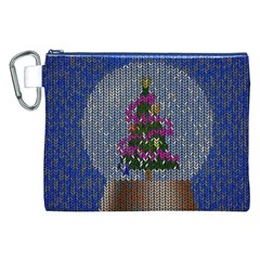 Christmas Snow Canvas Cosmetic Bag (xxl) by Nexatart