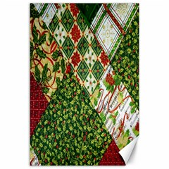 Christmas Quilt Background Canvas 24  X 36  by Nexatart