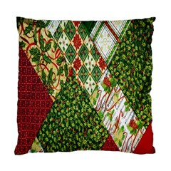 Christmas Quilt Background Standard Cushion Case (two Sides) by Nexatart