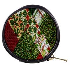 Christmas Quilt Background Mini Makeup Bags