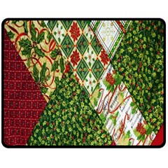 Christmas Quilt Background Fleece Blanket (medium)