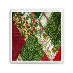 Christmas Quilt Background Memory Card Reader (square)
