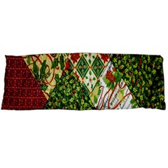 Christmas Quilt Background Body Pillow Case Dakimakura (two Sides) by Nexatart