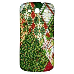 Christmas Quilt Background Samsung Galaxy S3 S Iii Classic Hardshell Back Case