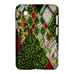 Christmas Quilt Background Samsung Galaxy Tab 2 (7 ) P3100 Hardshell Case