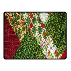 Christmas Quilt Background Double Sided Fleece Blanket (small)  by Nexatart