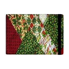 Christmas Quilt Background Ipad Mini 2 Flip Cases by Nexatart