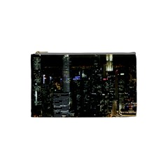 City At Night Lights Skyline Cosmetic Bag (small)