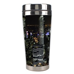 City At Night Lights Skyline Stainless Steel Travel Tumblers