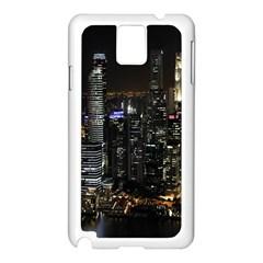 City At Night Lights Skyline Samsung Galaxy Note 3 N9005 Case (white)
