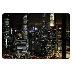 City At Night Lights Skyline Ipad Air Flip by Nexatart