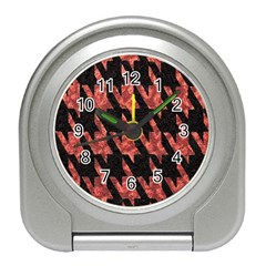 Dogstooth Pattern Closeup Travel Alarm Clocks by Nexatart
