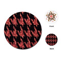 Dogstooth Pattern Closeup Playing Cards (round)  by Nexatart