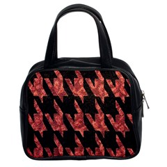 Dogstooth Pattern Closeup Classic Handbags (2 Sides) by Nexatart