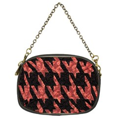 Dogstooth Pattern Closeup Chain Purses (two Sides)  by Nexatart