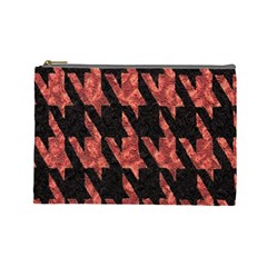 Dogstooth Pattern Closeup Cosmetic Bag (large)  by Nexatart