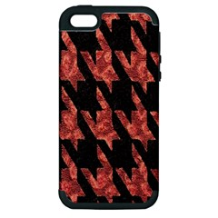 Dogstooth Pattern Closeup Apple Iphone 5 Hardshell Case (pc+silicone)