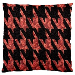 Dogstooth Pattern Closeup Standard Flano Cushion Case (two Sides) by Nexatart