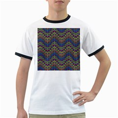 Decorative Ornamental Abstract Ringer T Shirts