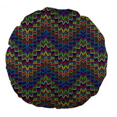 Decorative Ornamental Abstract Large 18  Premium Round Cushions by Nexatart