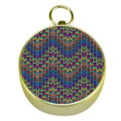 Decorative Ornamental Abstract Gold Compasses