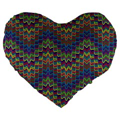 Decorative Ornamental Abstract Large 19  Premium Flano Heart Shape Cushions by Nexatart