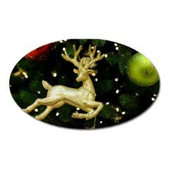 December Christmas Cologne Oval Magnet by Nexatart
