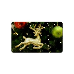 December Christmas Cologne Magnet (name Card) by Nexatart
