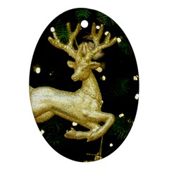 December Christmas Cologne Oval Ornament (Two Sides) by Nexatart