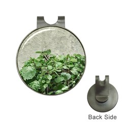 Plants Against Concrete Wall Background Hat Clips With Golf Markers by dflcprints