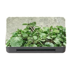 Plants Against Concrete Wall Background Memory Card Reader With Cf by dflcprints